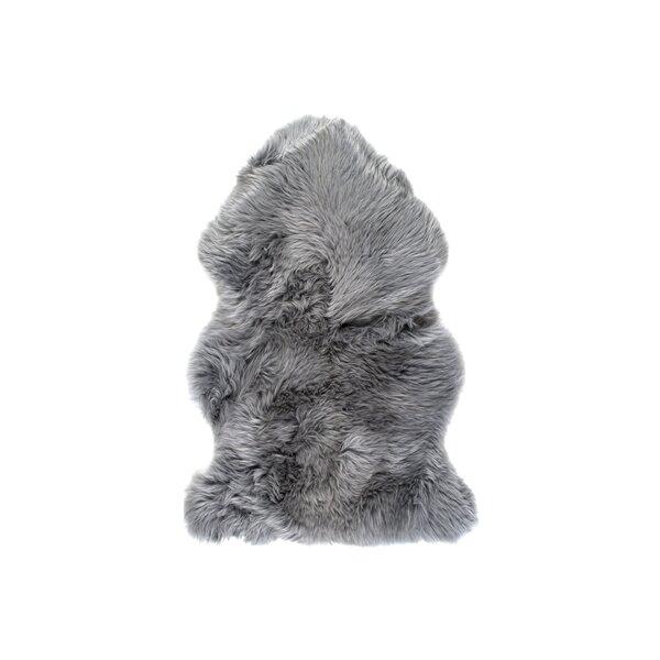 Handmade Grey Sheepskin Area Rug by Natural Rugs