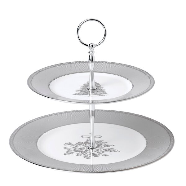 Winter White 2 Tier Cake Stand by Wedgwood