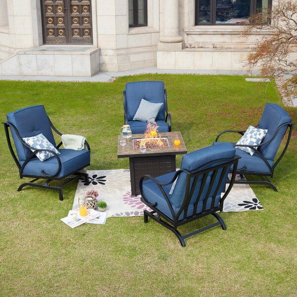 Beiler 5 Piece Multiple Chairs Seating Group with Cushions by Darby Home Co