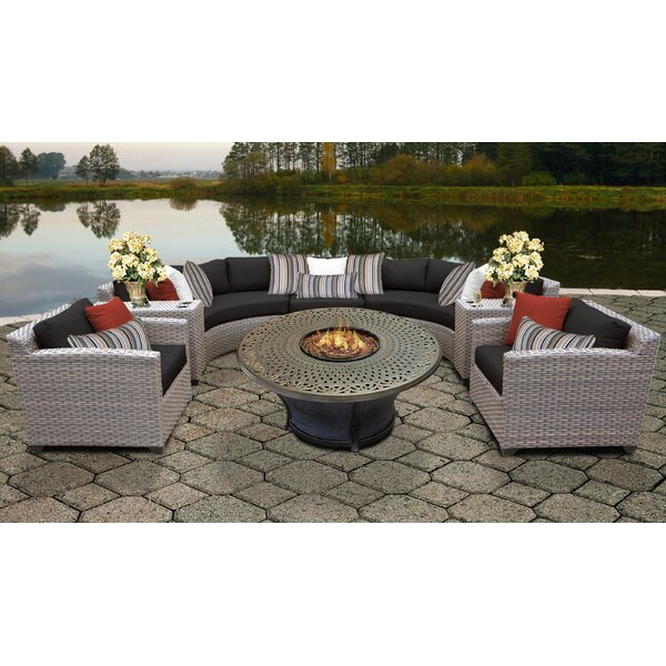 Merlyn 8 Piece Sectional Seating Group with Cushions by Sol 72 Outdoor