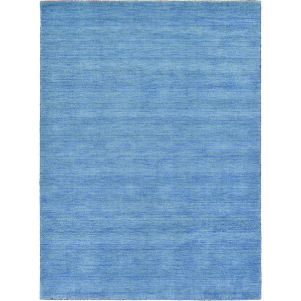 Langham Hand-Knotted Light Blue Area Rug by Beachcrest Home