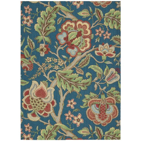 Global Awakening Imperial Dress Blue/Green/Sapphire Area Rug by Waverly