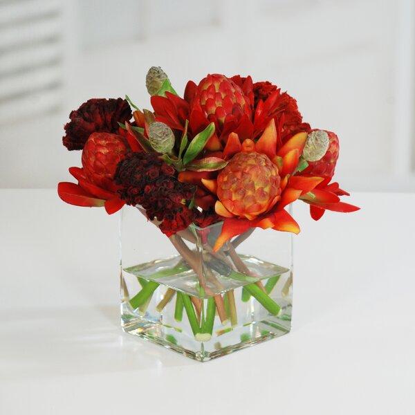 Waratah Centerpiece in Vase by Red Barrel Studio