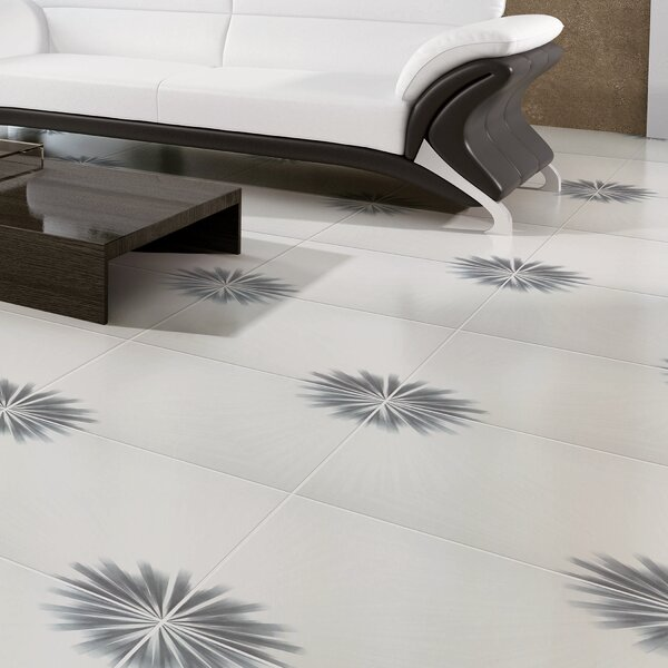 Tuscano 17.75 x 17.75 Ceramic Field Tile in White/Grey by EliteTile