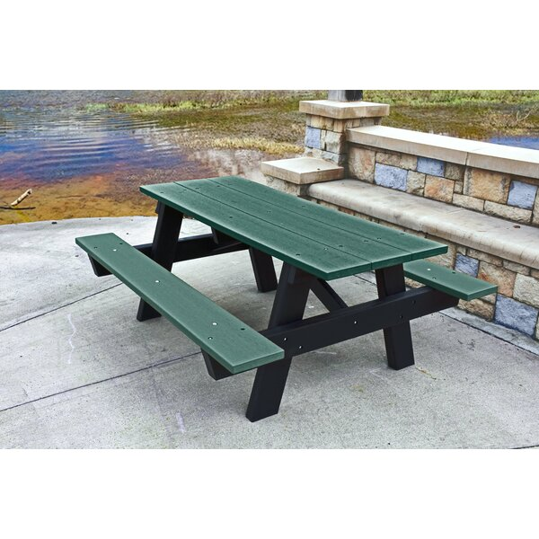 A-Frame Plastic Picnic Table By Frog Furnishings