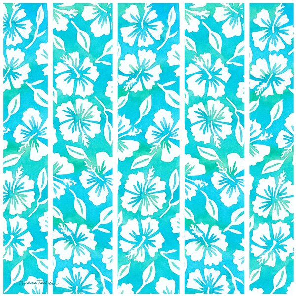 Hibiscus Garden Pattern Teal Occasions Trivet by Thirstystone