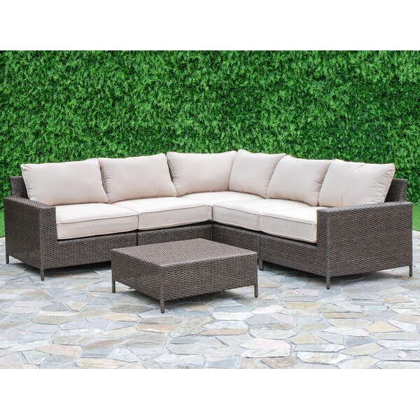 Sharon 6 Piece Sectional Seating Group with Cushions by Laurel Foundry Modern Farmhouse