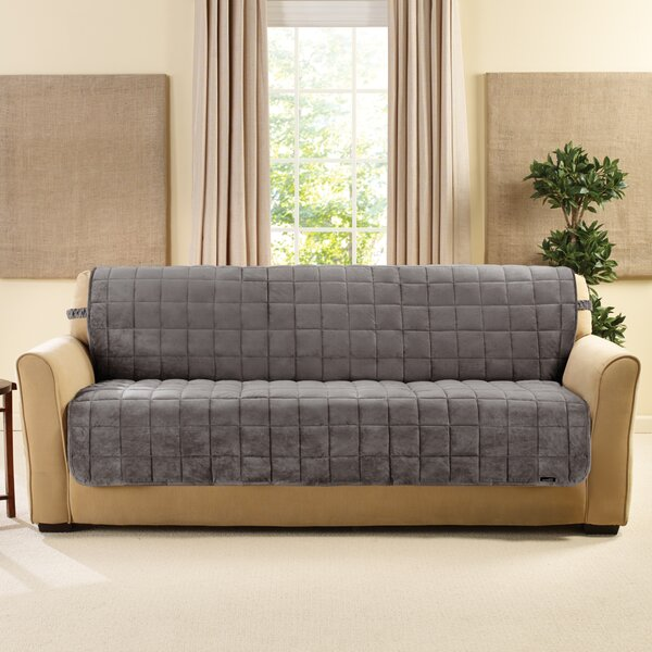 Deluxe Comfort Quilted Armless Box Cushion Sofa Slipcover by Sure Fit
