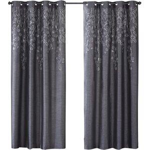 Monrovia Nature/Floral Room Darkening Grommet Single Curtain Panel
