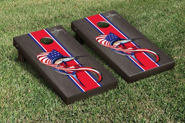 Guy Harvey Sailfish Flag Cornhole Game Set by Victory Tailgate