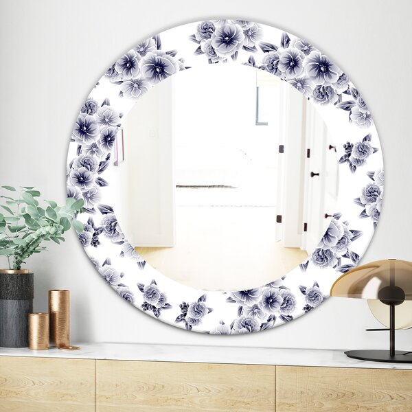Vintage Style Flower Farmhouse Accent Mirror