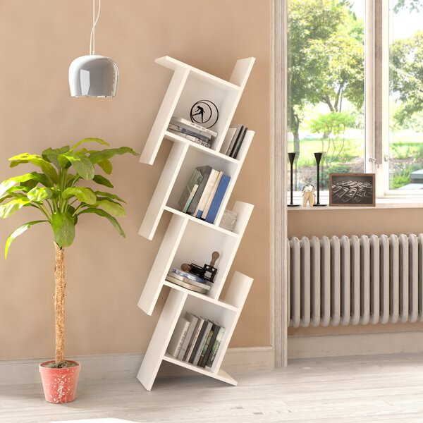 Manawa Floating Geometric Bookcase By Wrought Studio