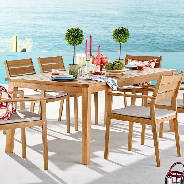 Aliya Viewscaspe 7 Piece Dining Set with Cushions by Rosecliff Heights