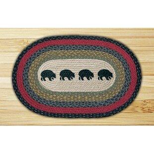 Read Reviews Black Bears Printed Area Rug ByEarth Rugs