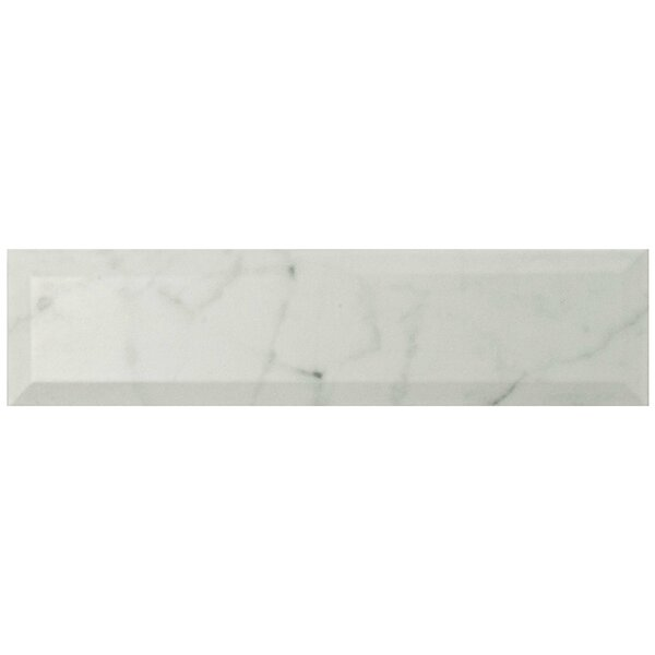Karra Carrara 3 x 12 Ceramic Subway Tile in Matte Metro White/Gray by EliteTile