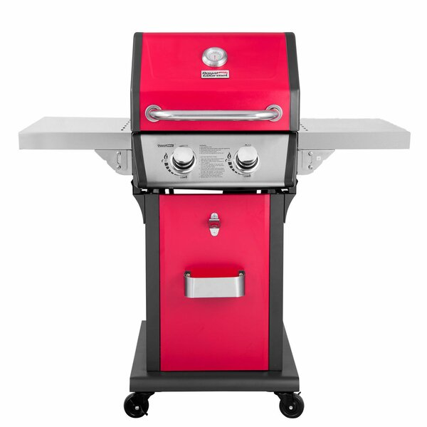 Patio 2-Burner Propane Gas Grill with Side Shelves