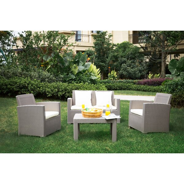 Allista 4 Piece Sofa Seating Group with Cushions by Latitude Run