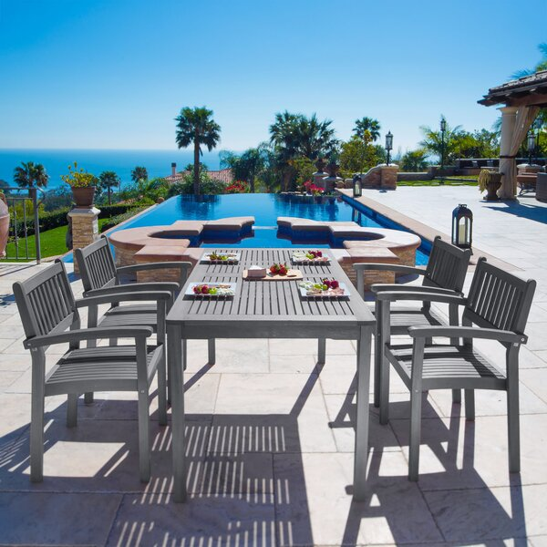 Andromeda 5 Piece Dining Set by Beachcrest Home