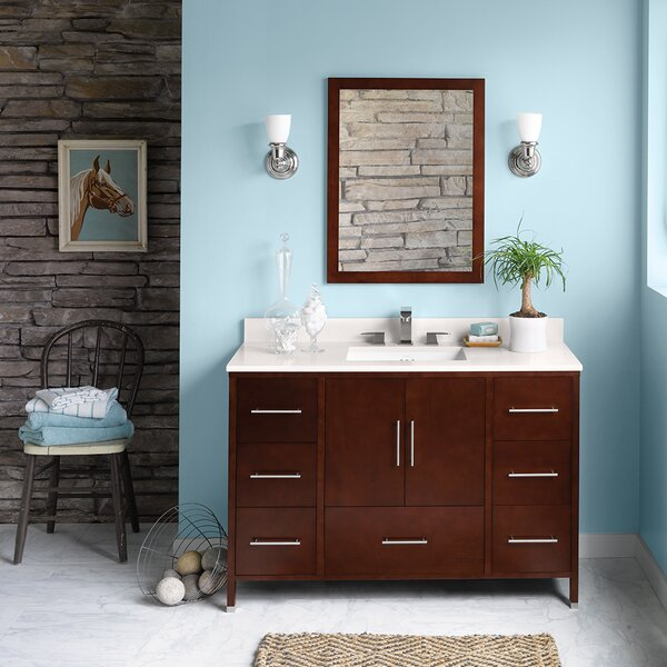 Juno 48 Single Bathroom Vanity Set with Mirror by Ronbow