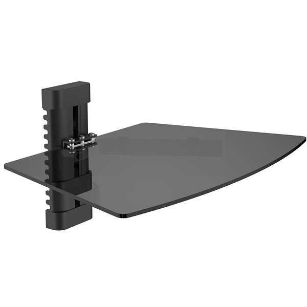 Single Tempered Glass AV Component Wall Shelf by L