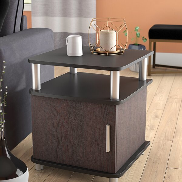 Elian End Table With Storage By Wade Logan