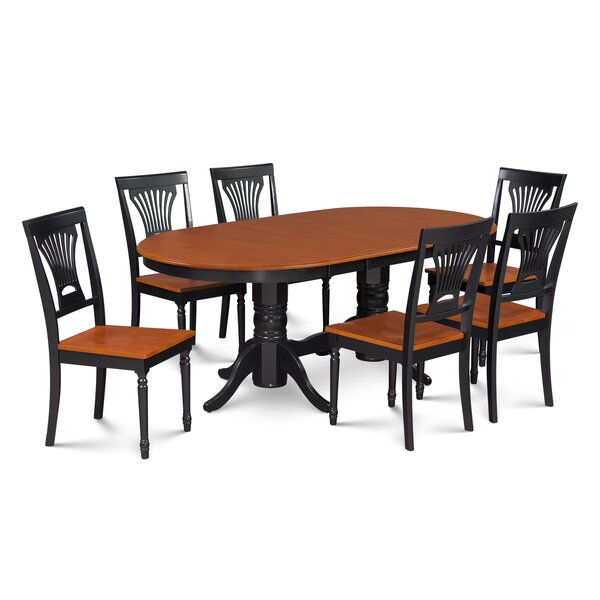 Inwood 7 Piece Carved Dining Set by Darby Home Co