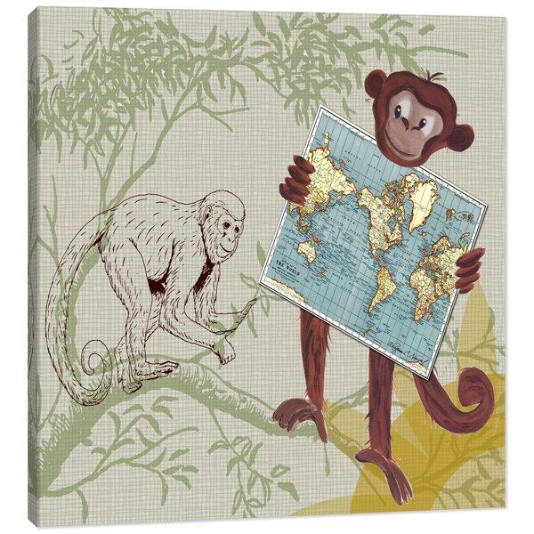 Jungle Monkey Safari Canvas Art by Doodlefish