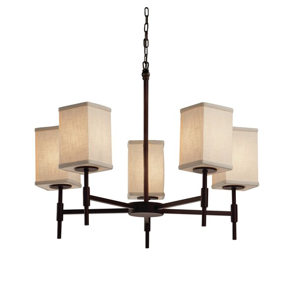 Geoffroy 5-Light Shaded Classic / Traditional Chandelier By Latitude Run