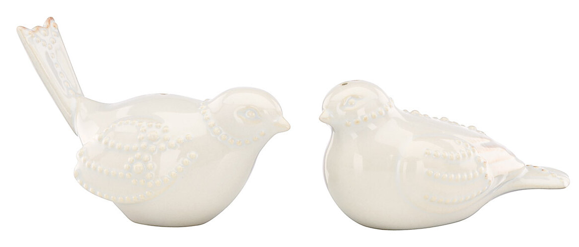 Lenox Birds Salt /& Pepper Shaker Set in White