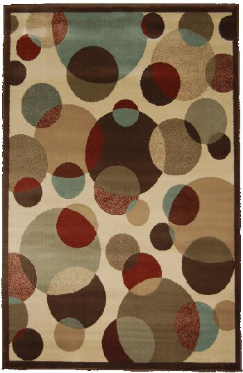 Vice Hand-Tufted Beige/Brown/Red Area Rug by Latitude Run