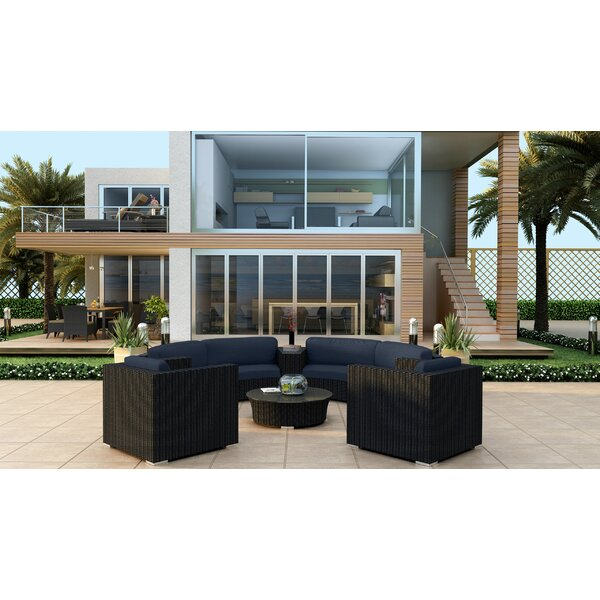 Azariah 6 Piece Curved Sectional Set with Cushions by Orren Ellis