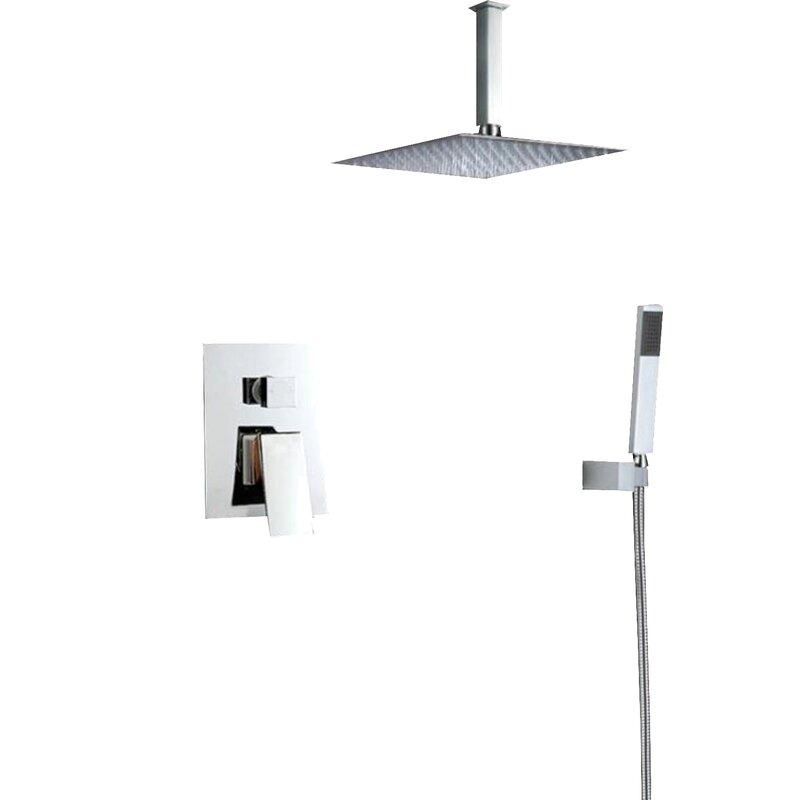 Eviva Pro Handheld Fixed Shower Head Complete Shower System | Wayfair
