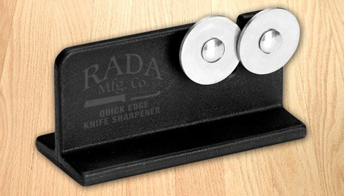 Quick Edge Stainless Steel Knife Sharpener (Set of 6) by Rada Cutlery