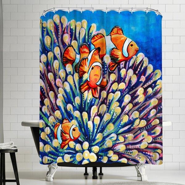 Eve Izzett Clown Fish Shower Curtain by East Urban Home
