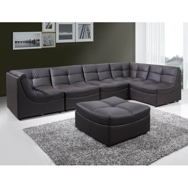 Outdoor Furniture Laquecia Modular Sectional With Ottoman