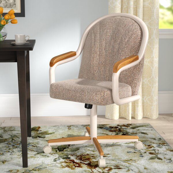 Gentry Mid-Back Dining Chair with Arms by Red Barr