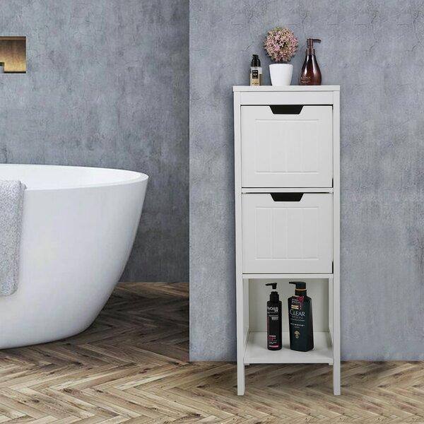 Mcbrayer 11.8 W x 35.2 H x 11.8 D Free-Standing Bathroom Canbinet