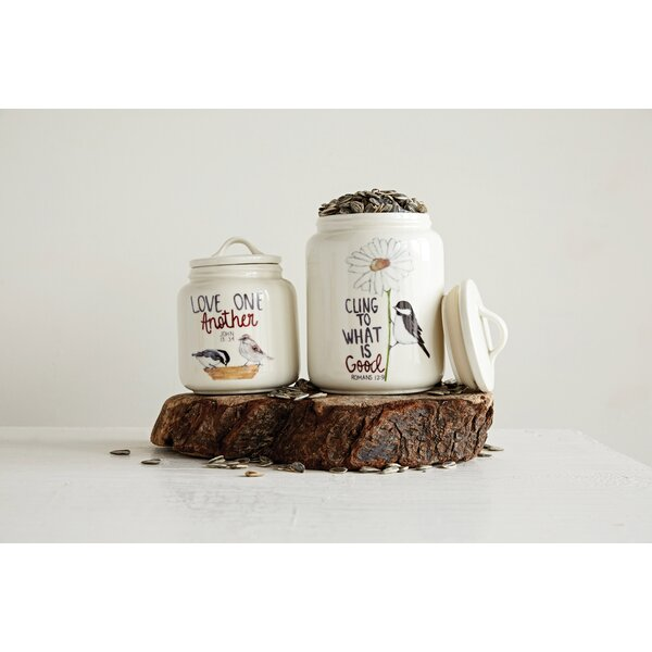 Cottage Stoneware Kitchen Canister by August Grove