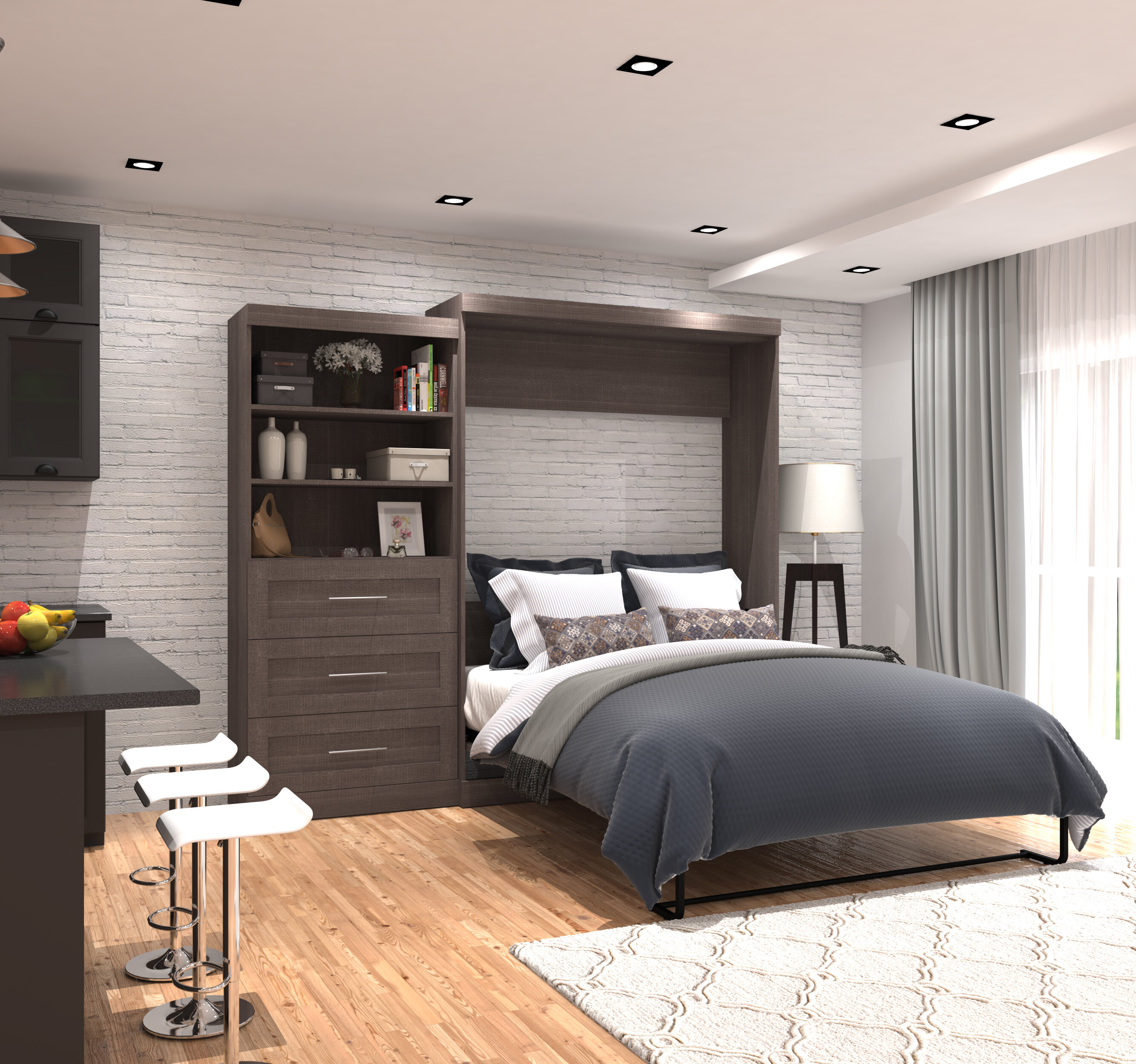 bed in white and com kitchen dp full amazon queen wall gray murphy dining