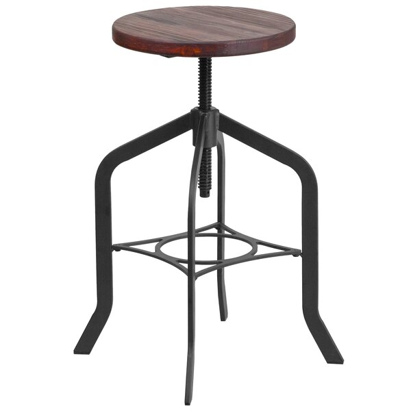 Ed Adjustable Height Swivel Bar Stool by Williston Forge