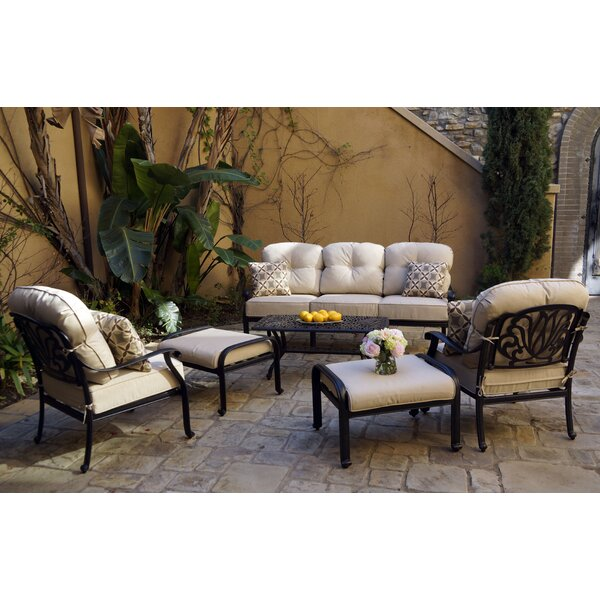 Bullis 6 Piece Sofa Seating Group with Cushions by Canora Grey