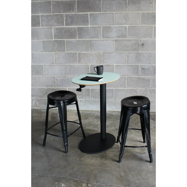 Oval 3 Piece Adjustable Pub Table Set by Fräsch