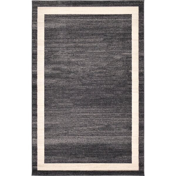 Cregan Black/Cream Area Rug by Orren Ellis