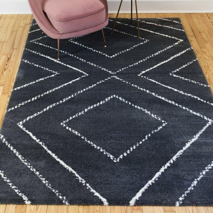 Union Rustic Bowden Geometric Dark Gray Area Rug Wayfair
