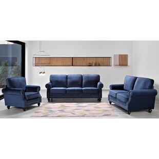 Espitia Minimalist 3 Piece Standard Living Room Set by House of Hampton®