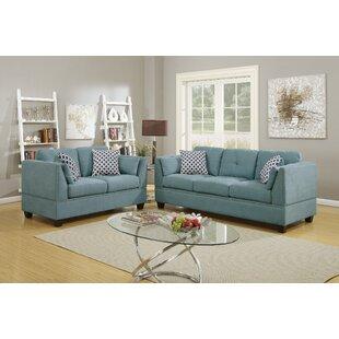 Doralene 2 Piece Velvet Living Room Set by Red Barrel Studio®