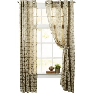 Arlon Geometric Room Darkening Grommet Single Curtain Panel
