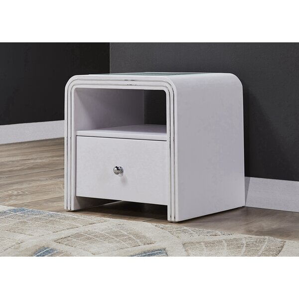 Gerome 1 Drawer Nightstand by Orren Ellis