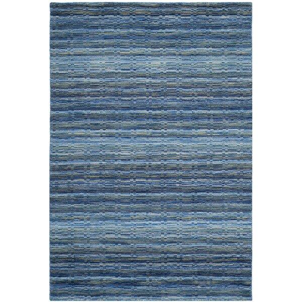 Sherri Hand-Woven Wool Blue Area Rug by Zipcode Design