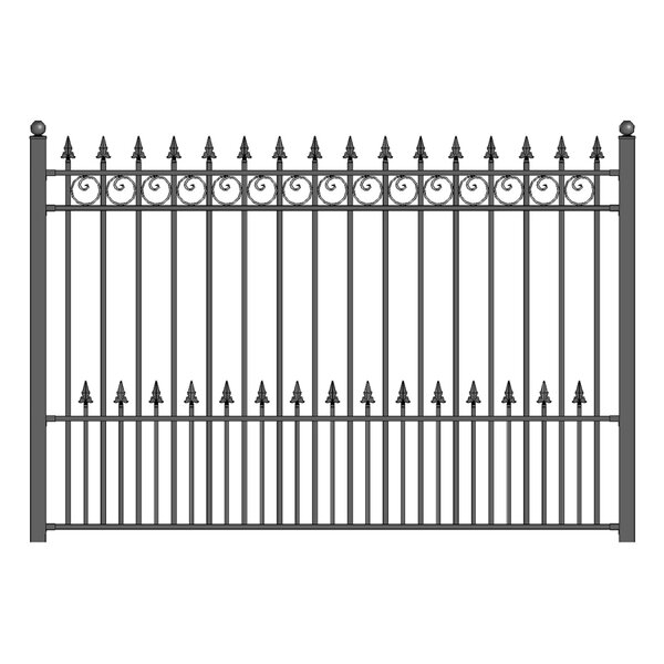 5 ft. H x 5.5 ft. W Prague DIY Unassembled Steel Fence Panel by ALEKO